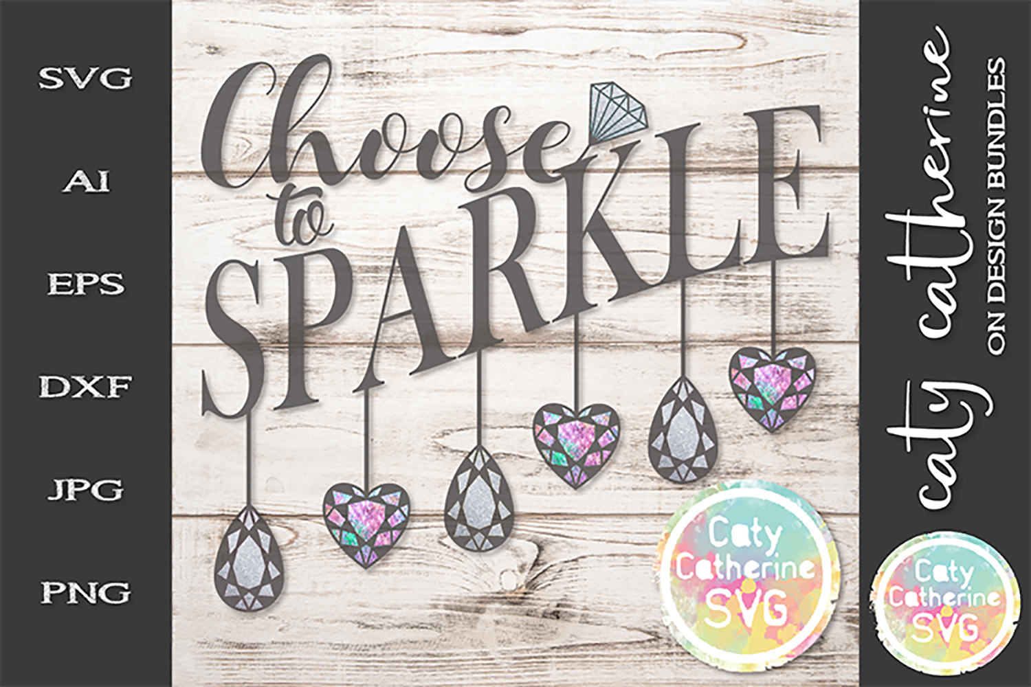 Choose To Sparkle Motivational Quote SVG Cut File example image 1