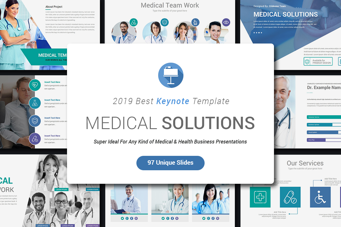 Medical Keynote Template Solutions example image 2