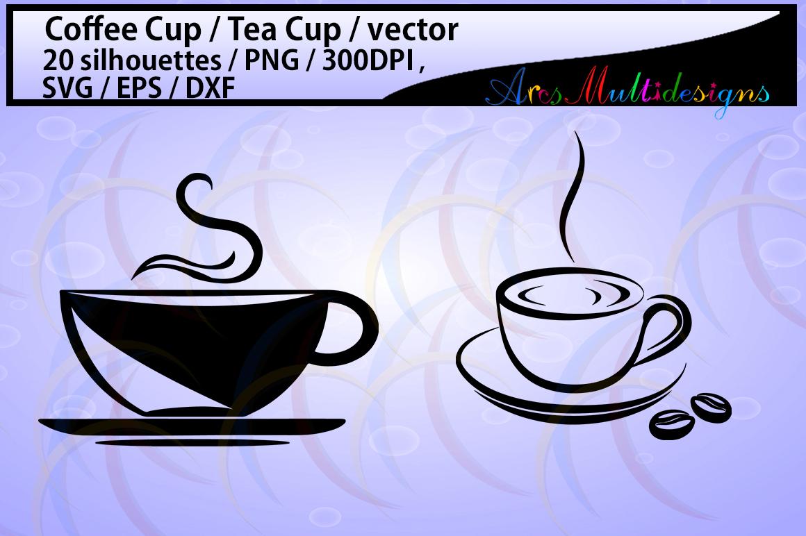 coffee svg / Tea mug / HQ / coffee cup silhouette svg / tea cup silhouette / SVG / PNg / EPS / Dxf files / vector / scrapbooking / coffee cup / mugs example image 2