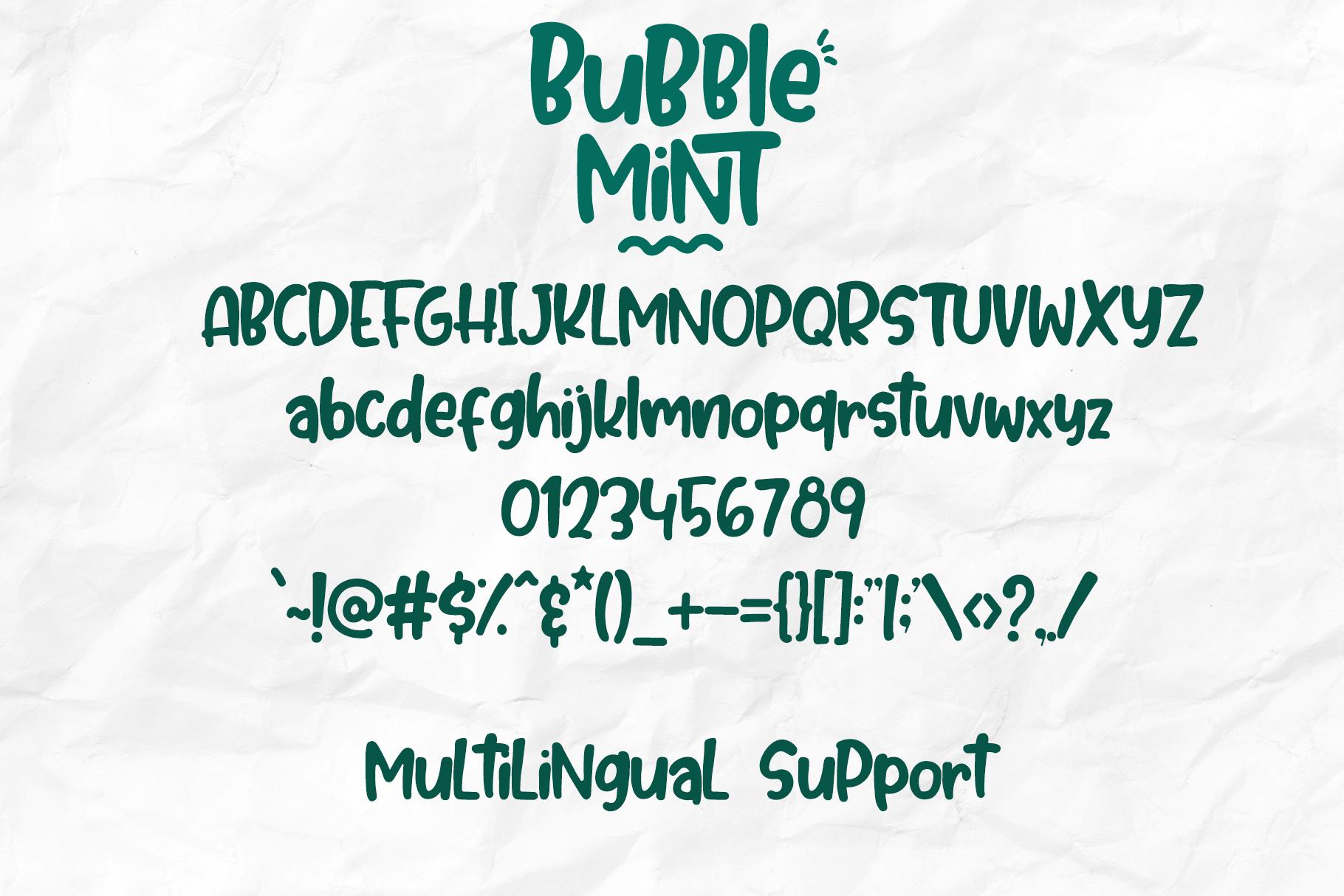Bubble Mint - Fun written Font example image 7