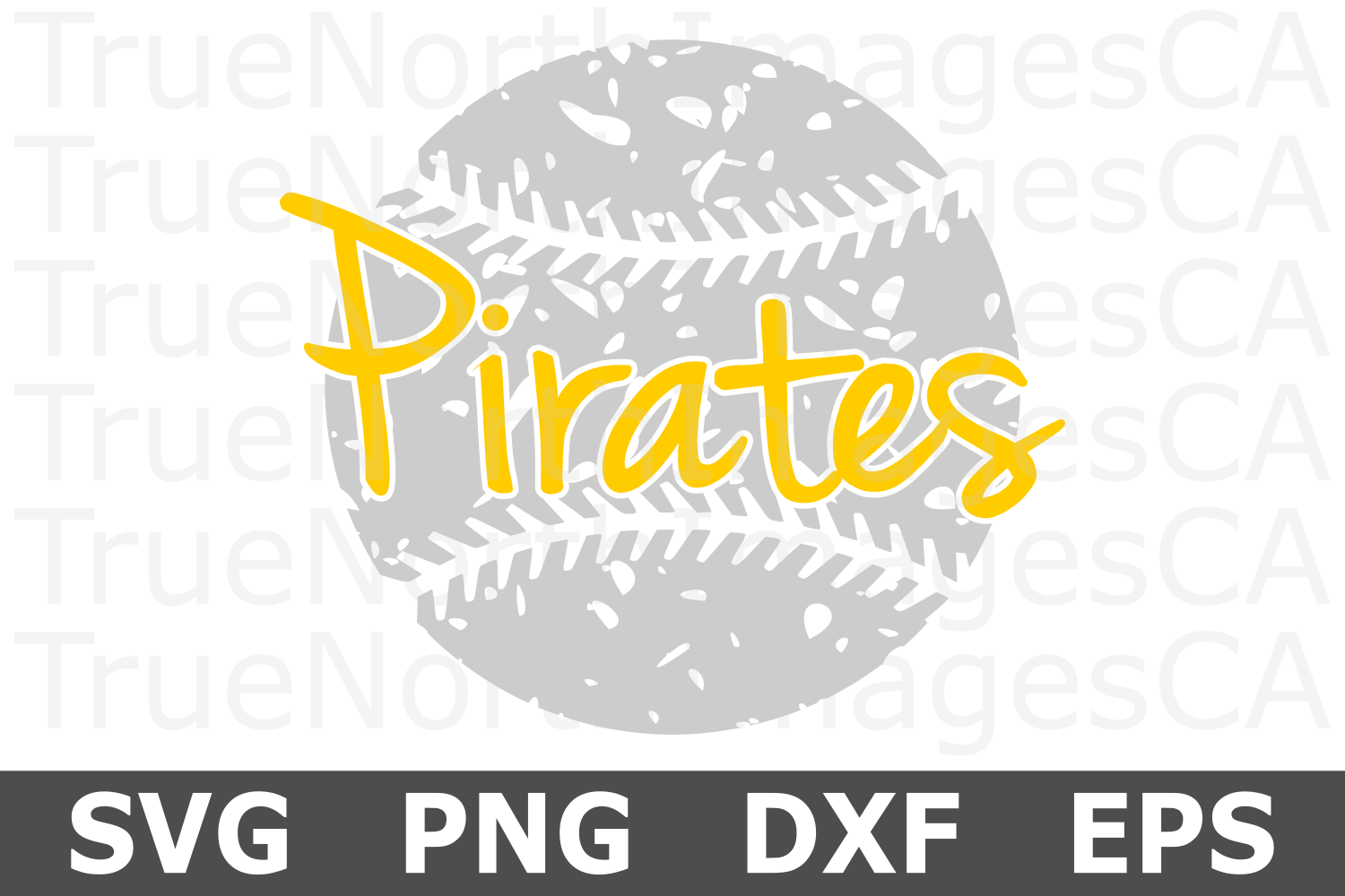 Pirates Grunge Baseball - A Sports SVG Cut File example image 2