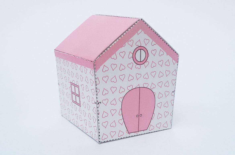 DIY Hut Favor - 3d papercraft example image 4