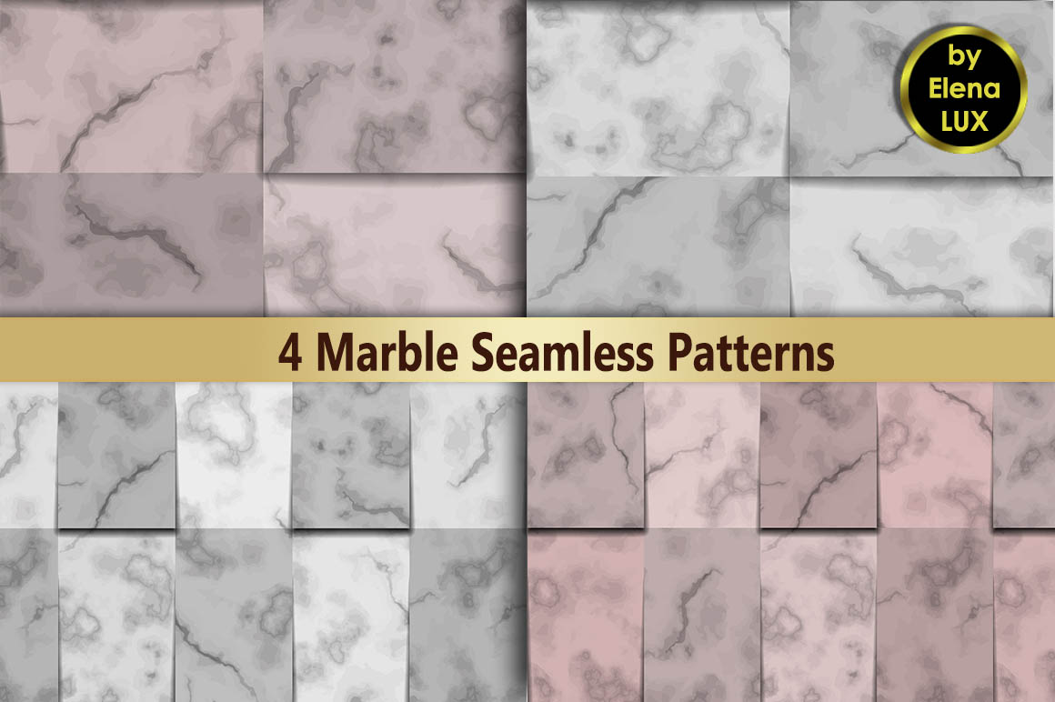 Marble Seamless Pattern Set example image 1