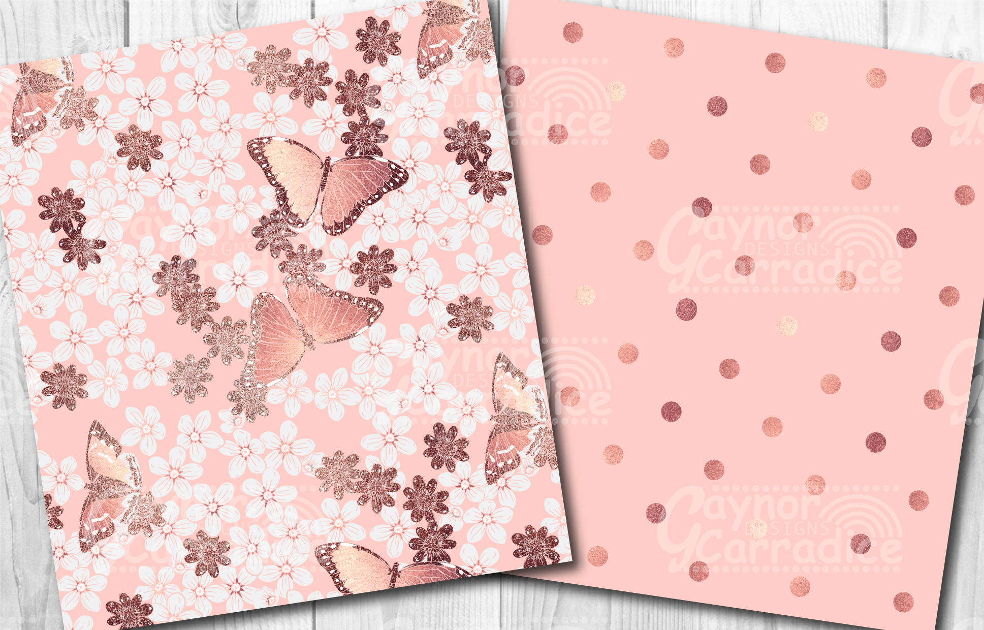 Rose Gold Butterfly Pattern Collection example image 3