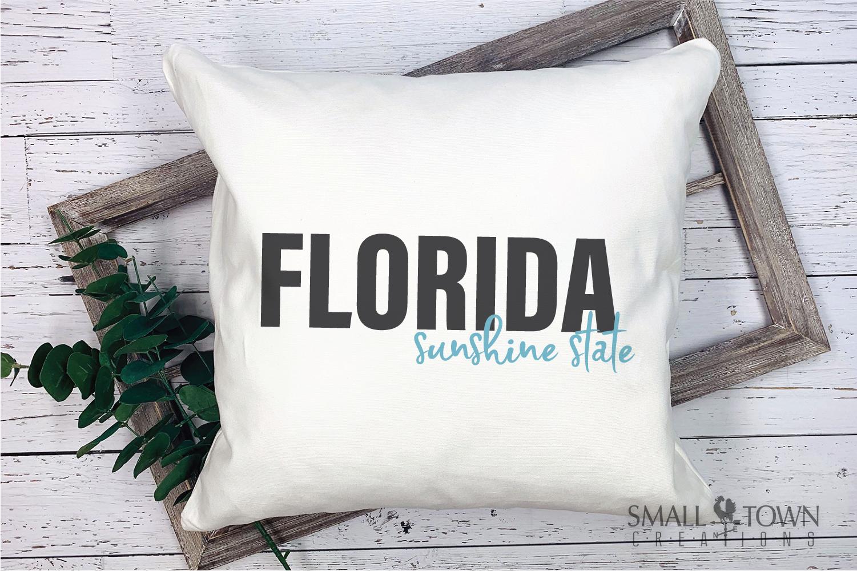 Florida, Sunshine State - slogan, logo, PRINT, CUT & DESIGN example image 5