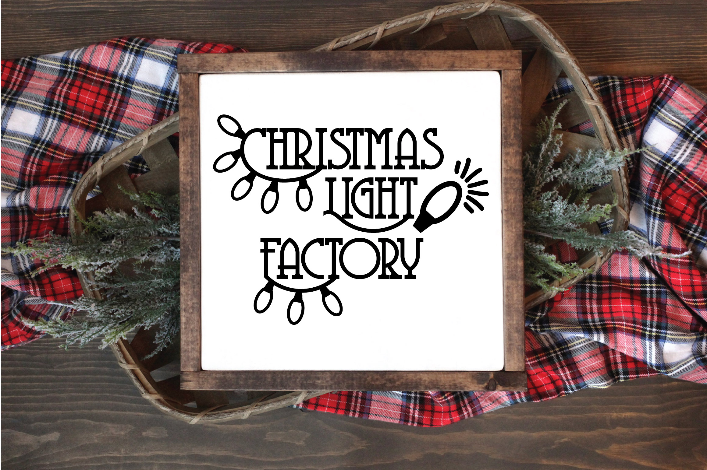 Christmas SVG Cut File - Christmas Light Factory SVG DXF PNG example image 5