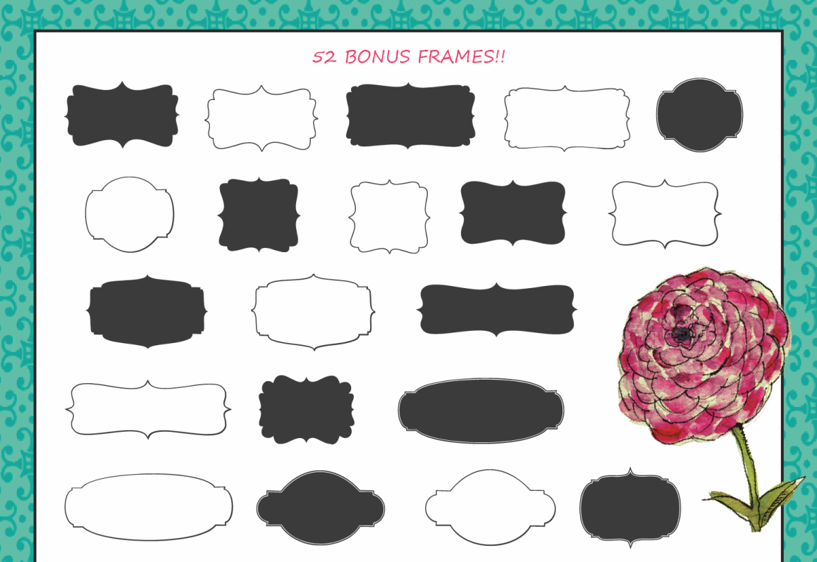 Margherite Script + Bonus Frames example image 6