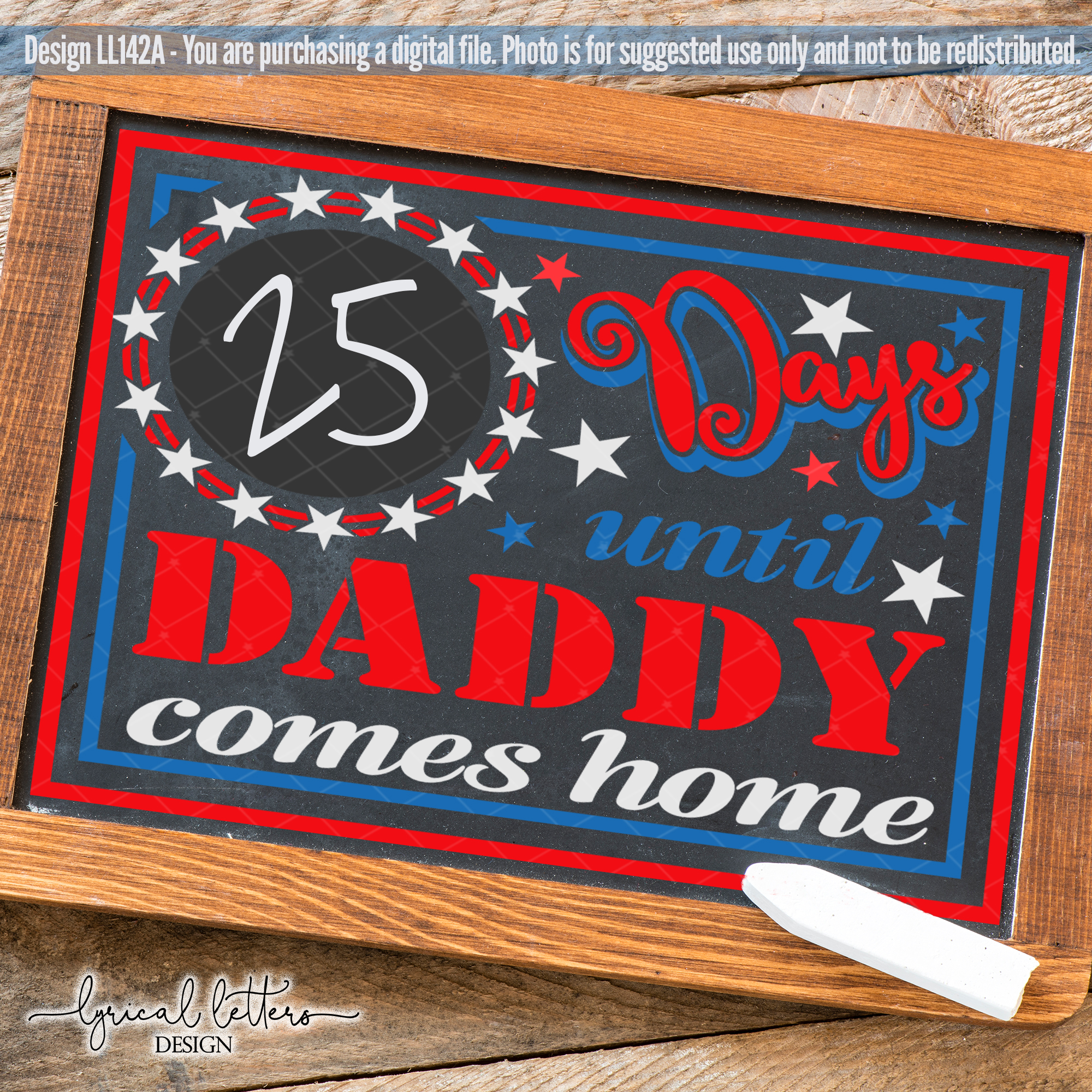 Days Until Daddy Comes Home Deployment SVG Cut File LL142 A example image 2