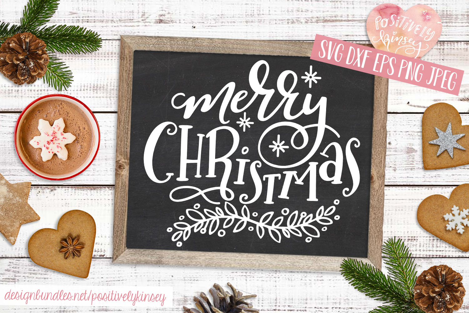 Merry Christmas SVG DXF PNG EPS Christmas Quote Svg Design example image 1