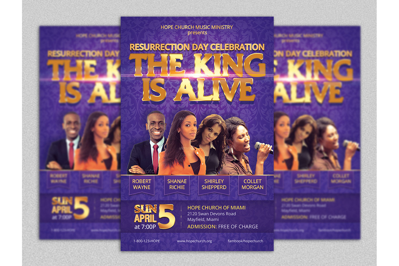 Resurrection Day Concert Flyer Poster Template example image 1