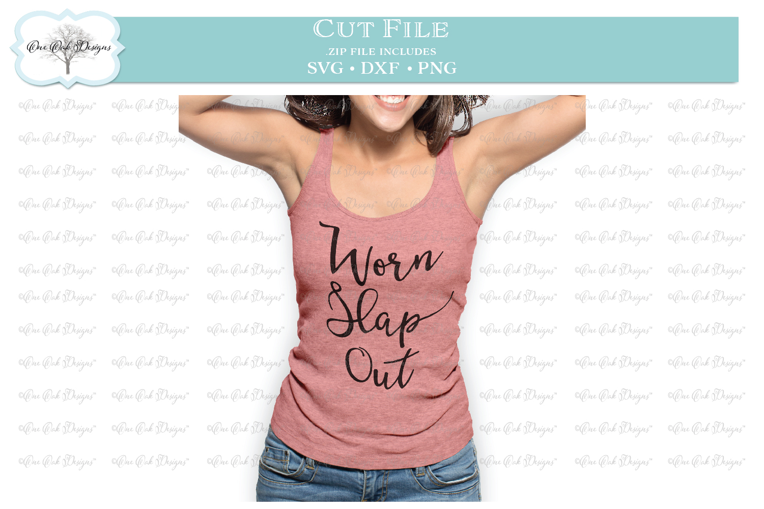 Worn Slap Out Southern Saying - SVG DXF PNG example image 2