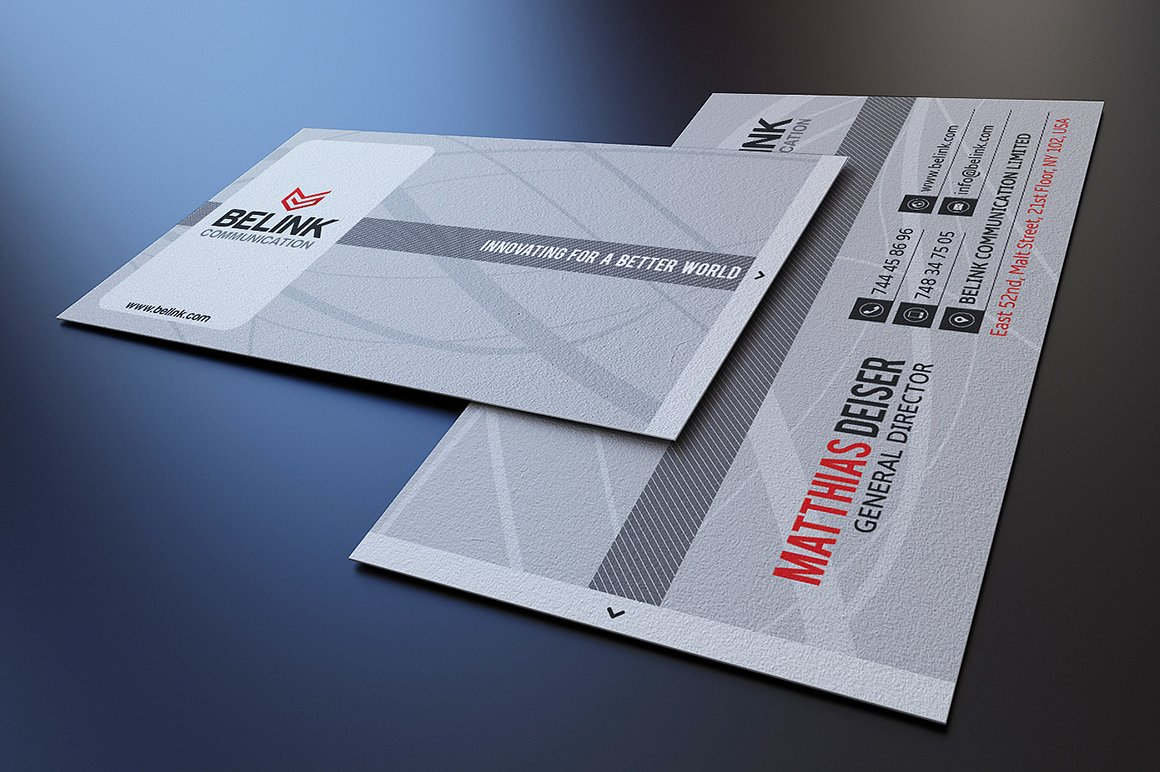 Simple Grey Business Card example image 1