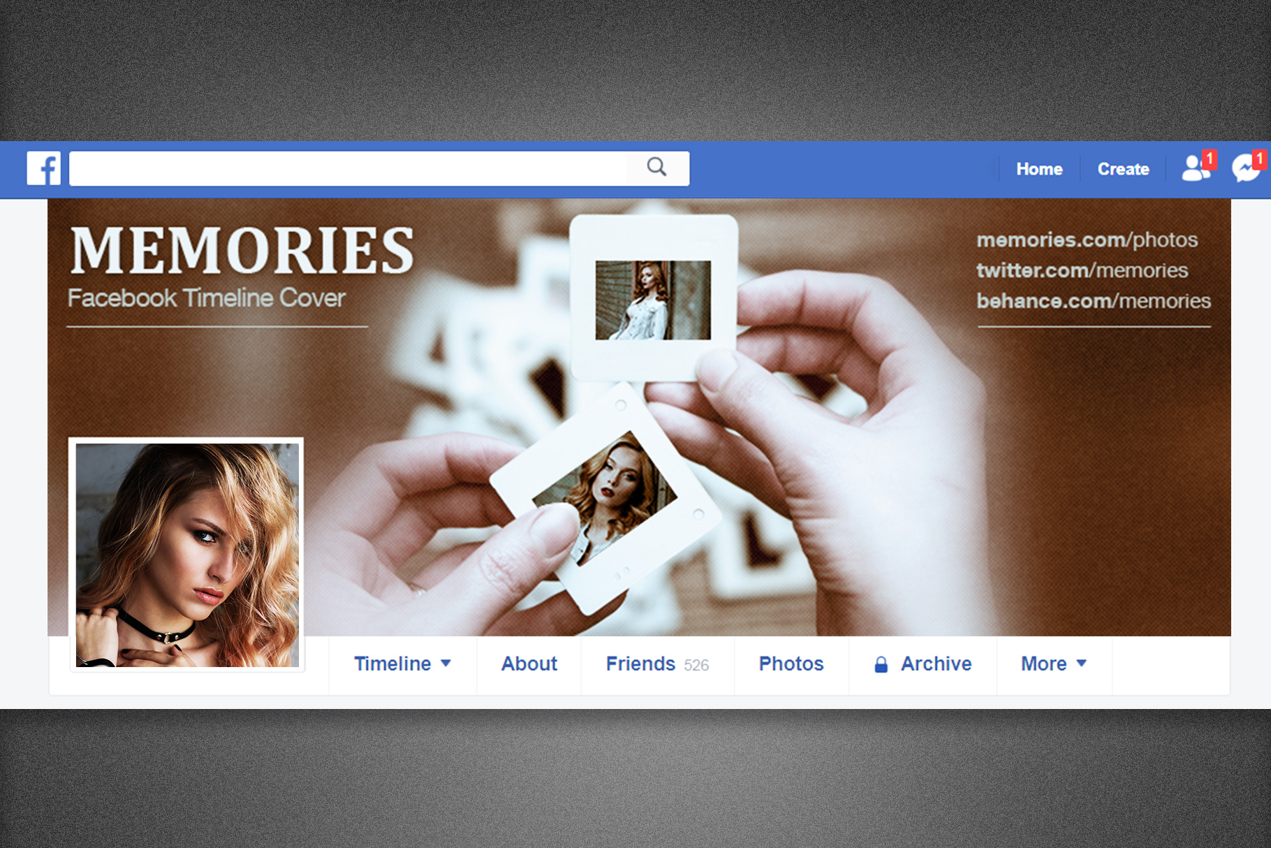 Memories Facebook Timeline Cover example image 3