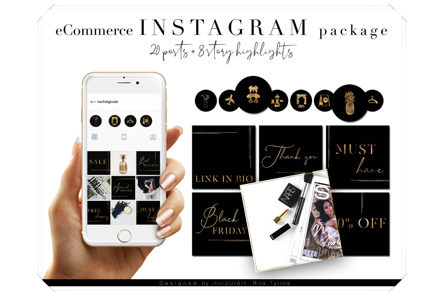 e-Commerce Instagram Posts Pack - Social Media Package example image 1