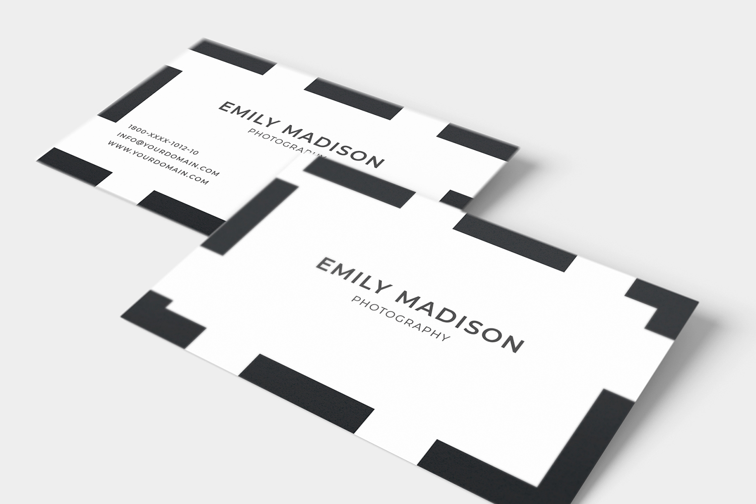 Clean Minimal Business Card Template example image 3