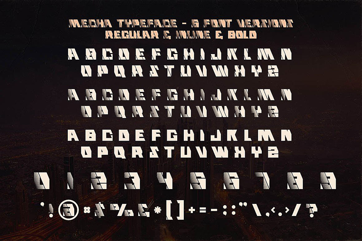 Mecha - Display Font example image 3