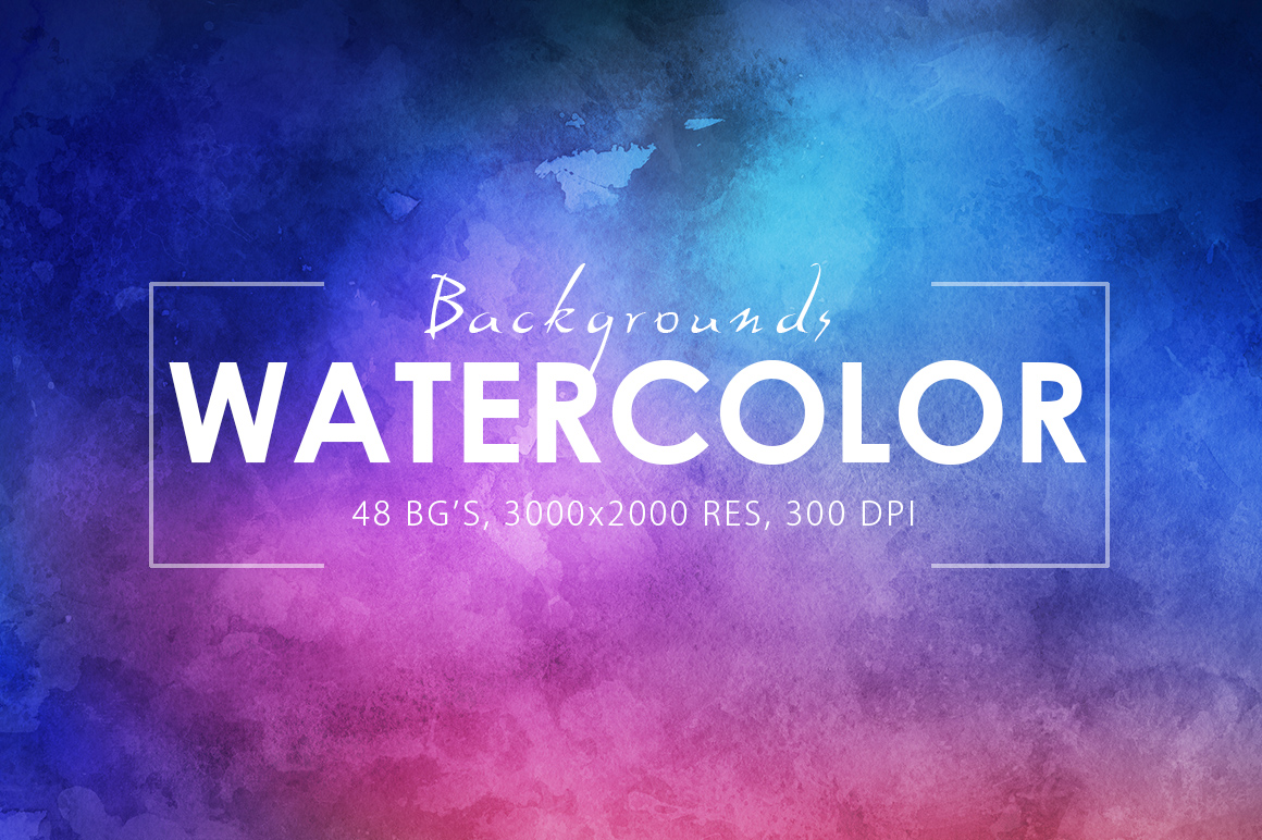 Only Watercolor Backgrounds Bundle example image 2