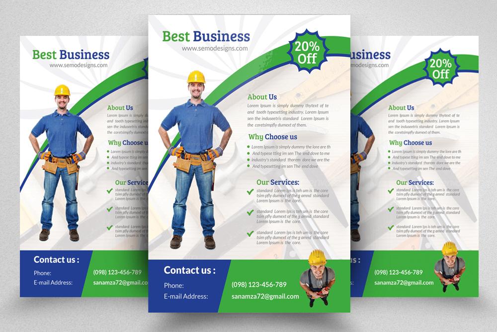 6 Handyman & Plumber Flyers Bundle example image 4