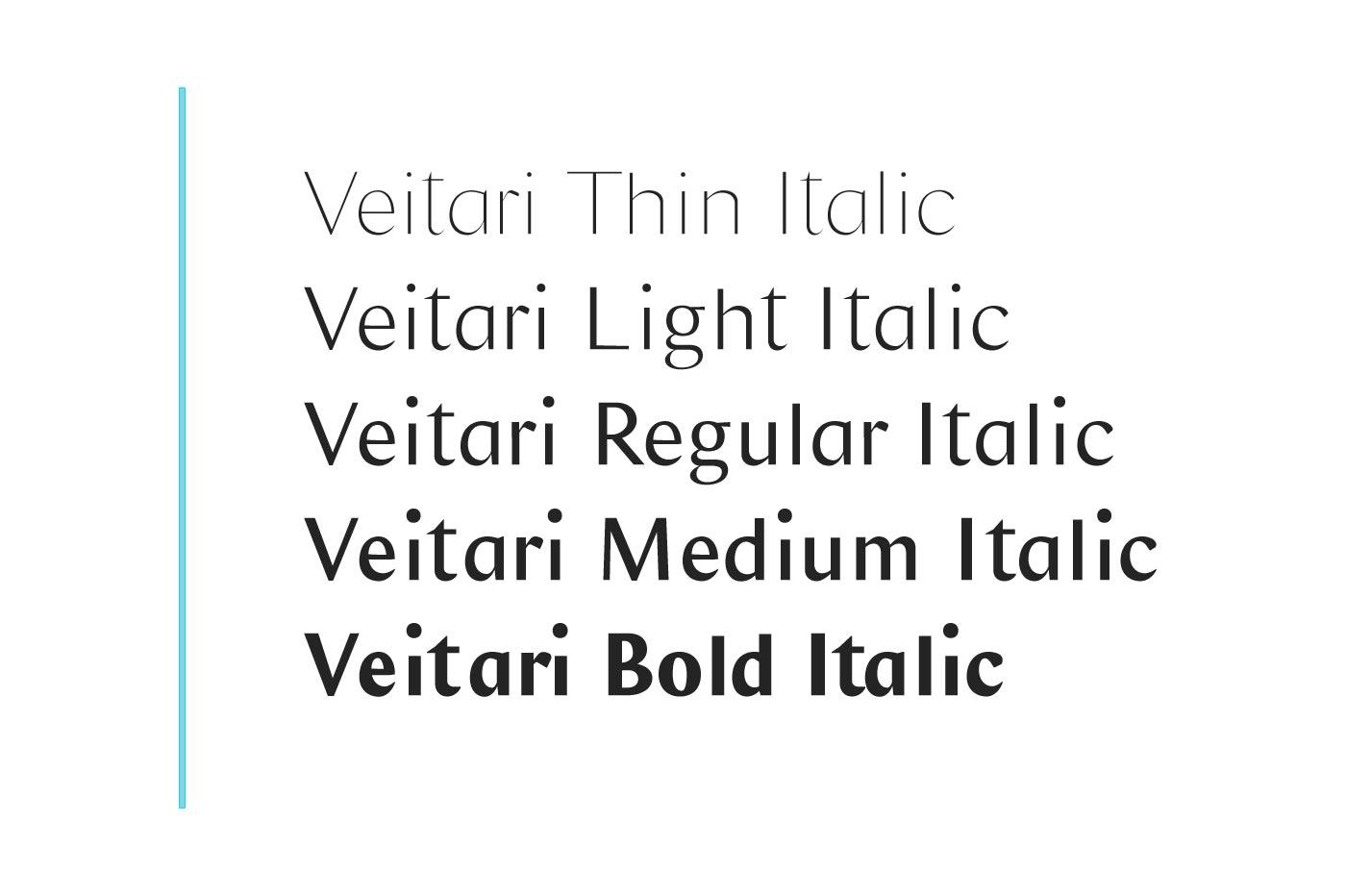 Veitari Typeface example image 3