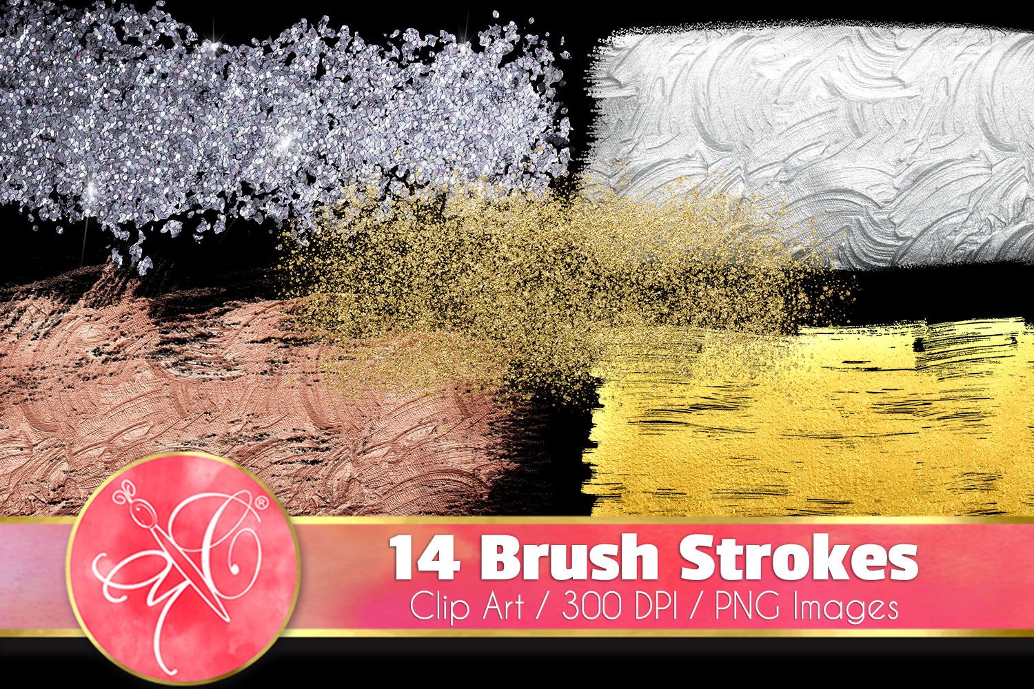 Brush Strokes ClipArt - 14 PNG images example image 1
