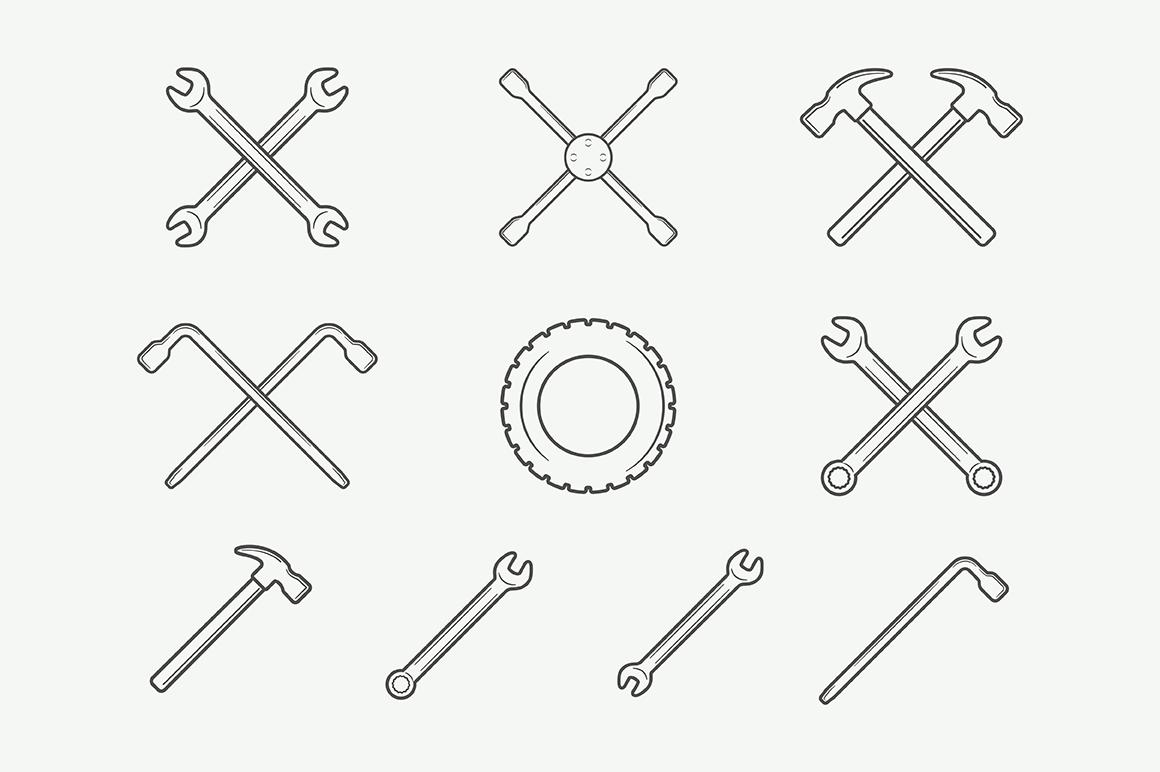 Mechanic and Car Repair Emblems Bundle example image 3