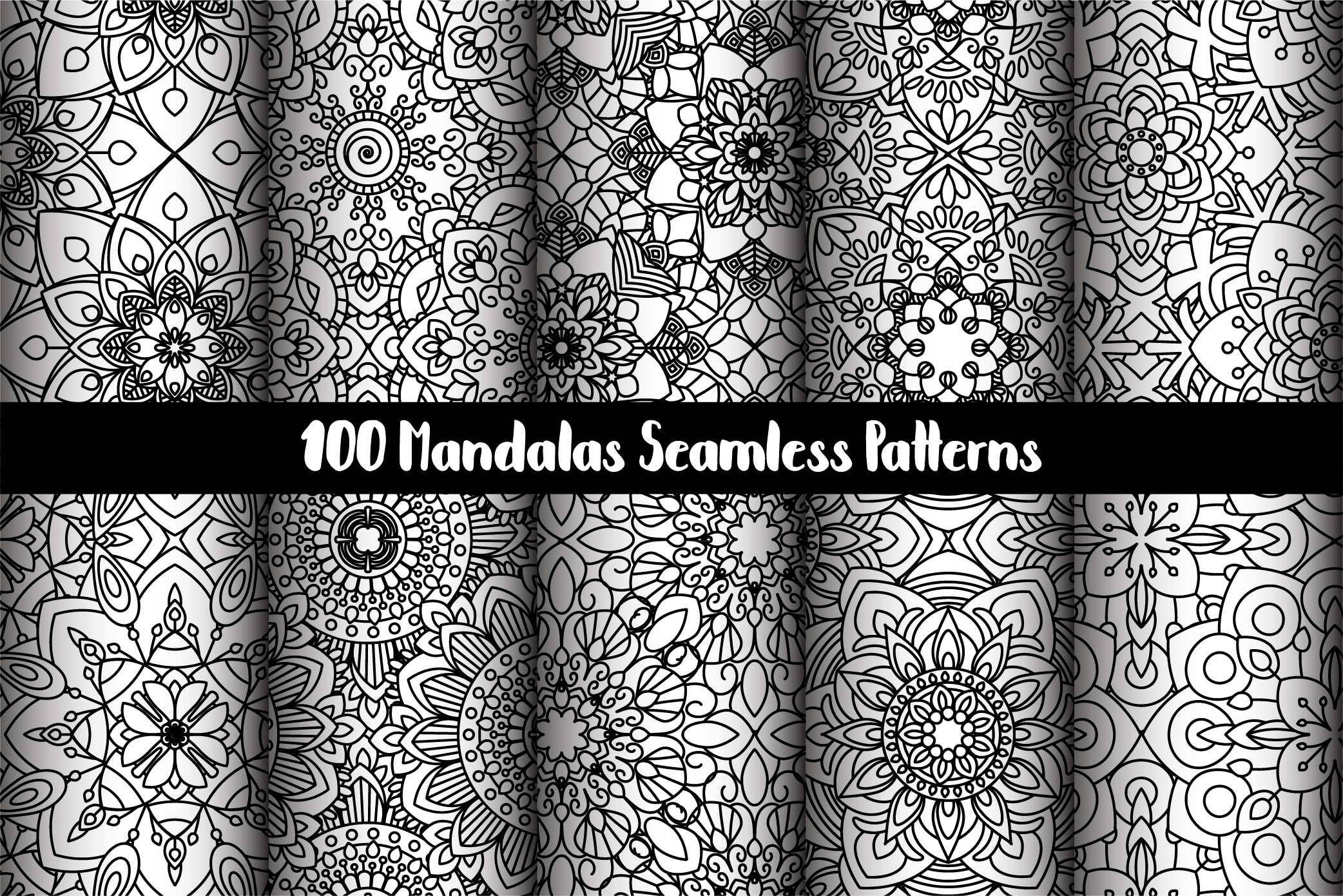 100 Mandalas Seamless Patterns example image 16