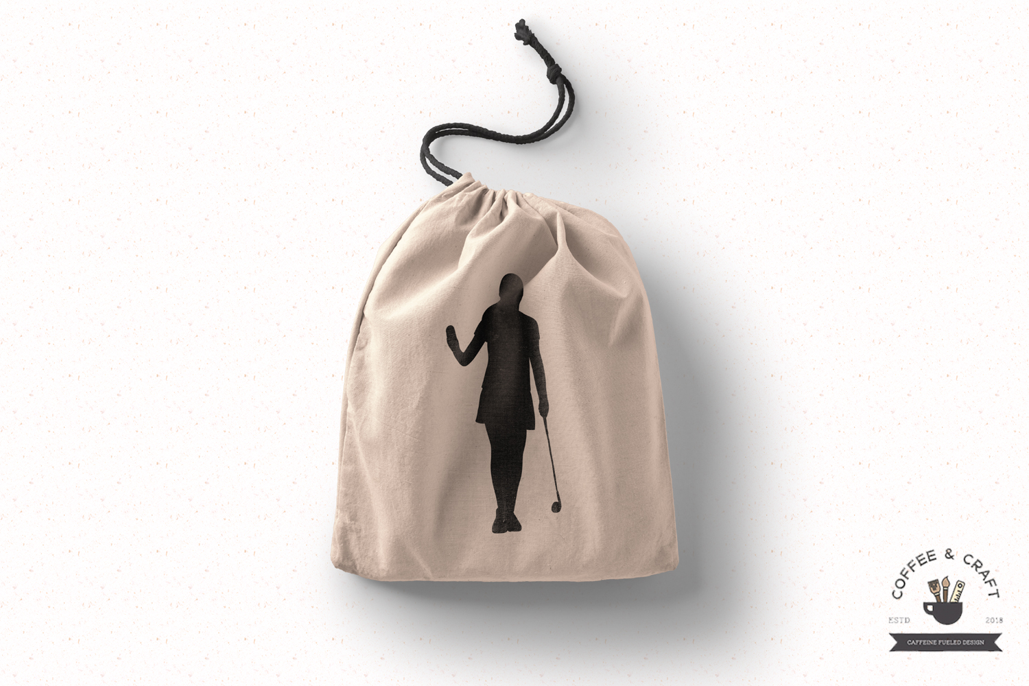 Golfer silhouettes female example image 3