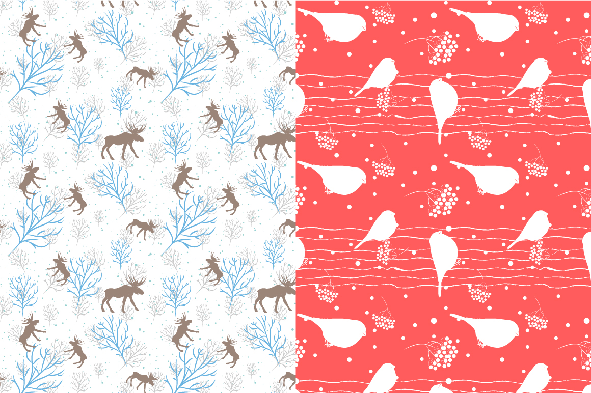 21 Winter seamless patterns example image 2