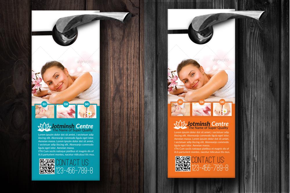 Beauty Spa & Massage Door Hangers example image 2
