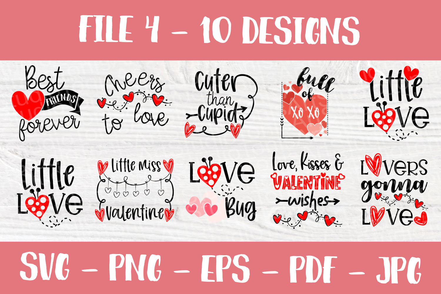 Valentine's Day Quotes | Valentines SVG Bundle| SVG Cut File example image 4