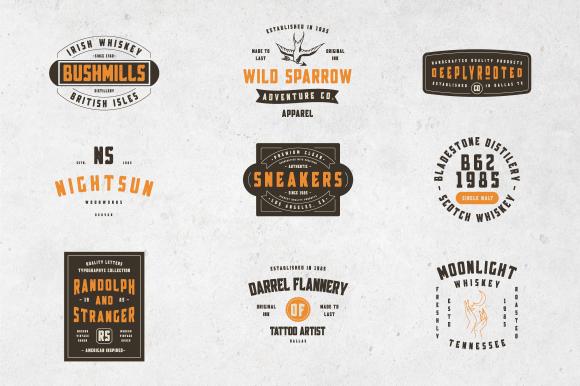 Broscoi - Vintage Font Family - Free font demo link included example image 7
