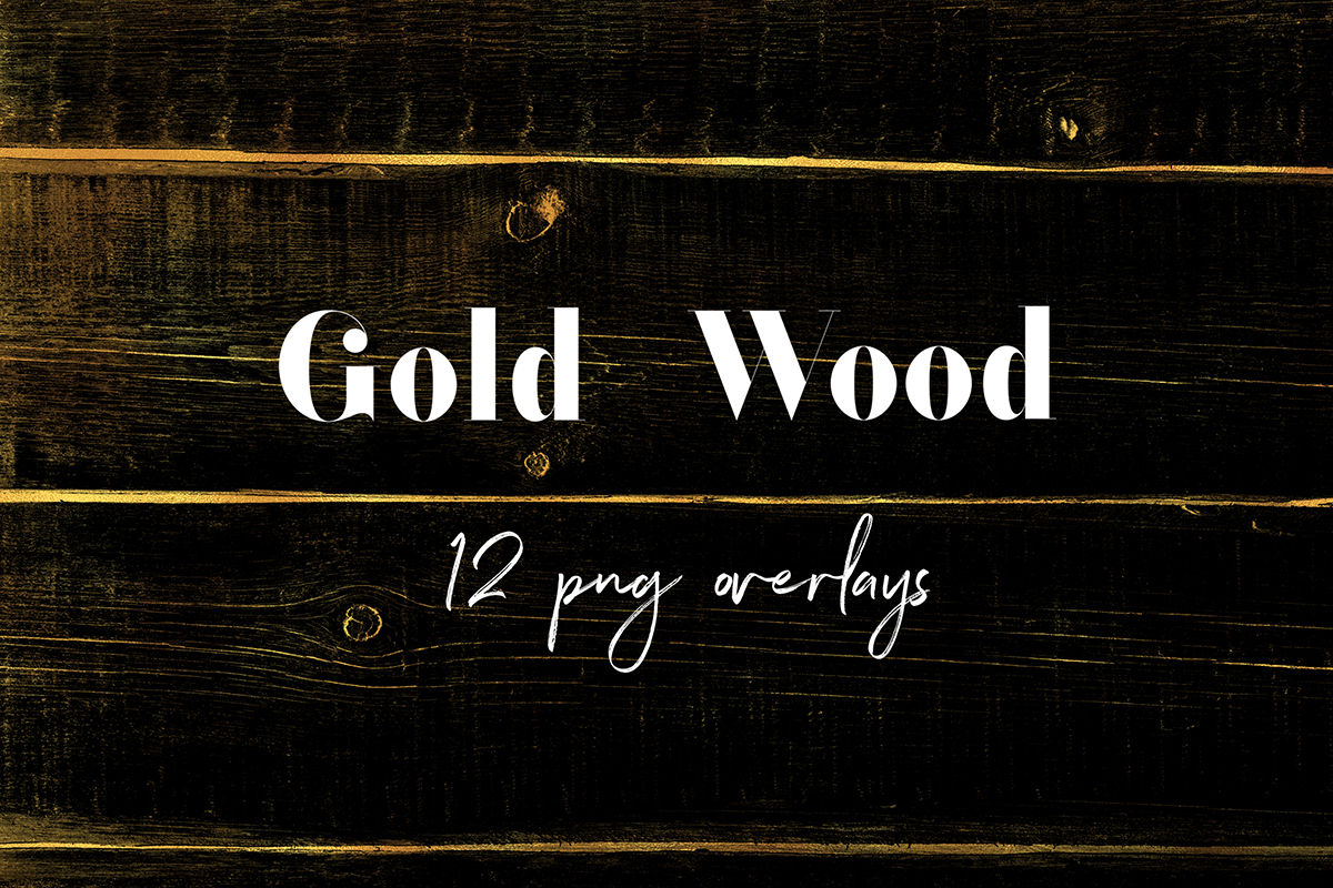 Gold Wood PNG Overlays example image 1