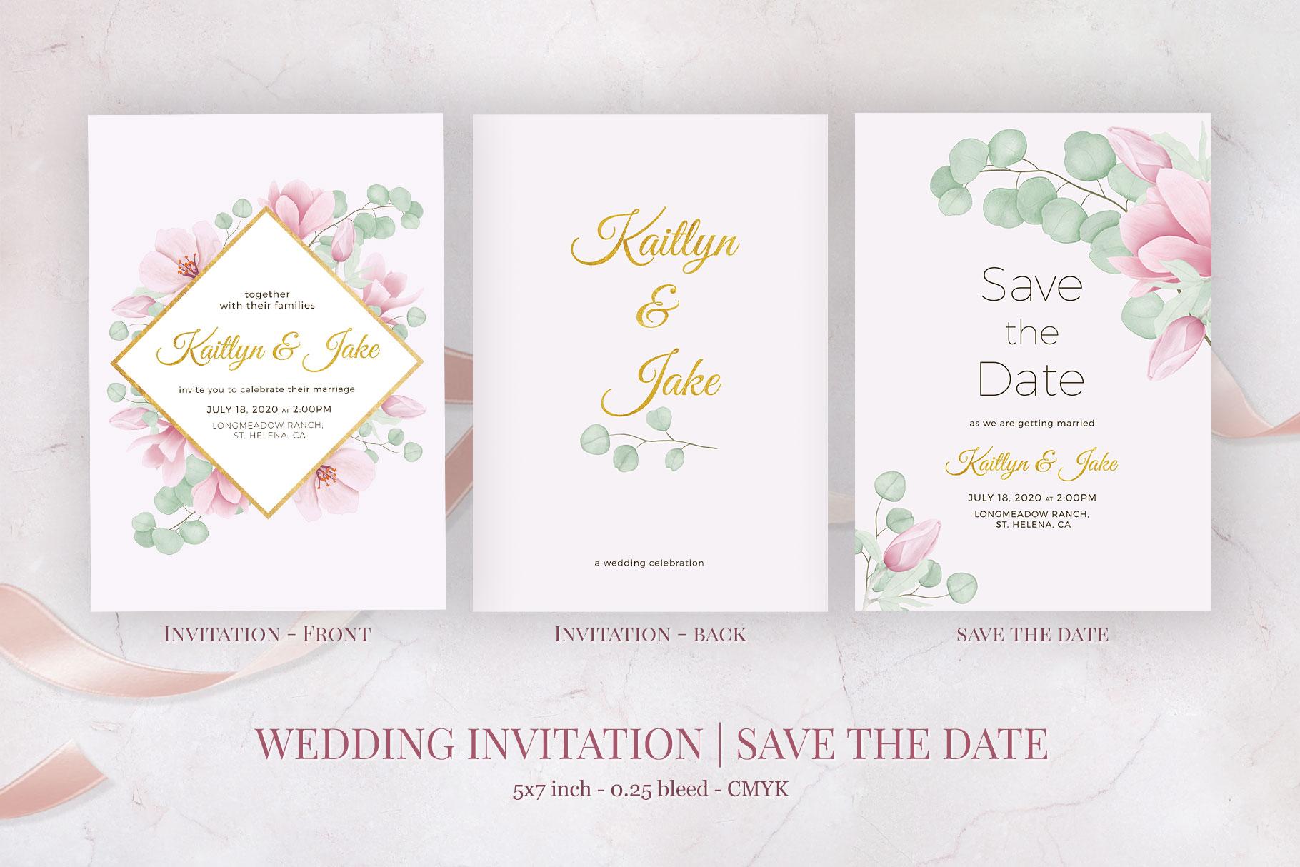 Magnolia & Eucalyptus Wedding Suite example image 2
