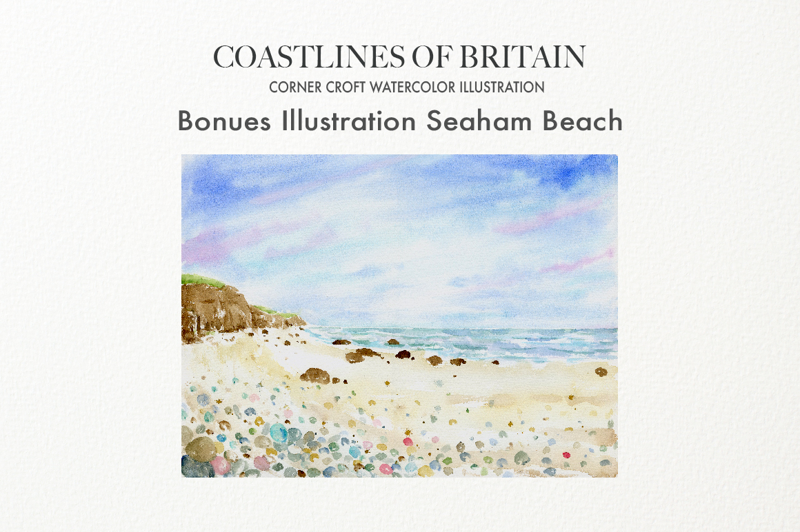 Watercolor Coast of Britain For Instant Download example image 3