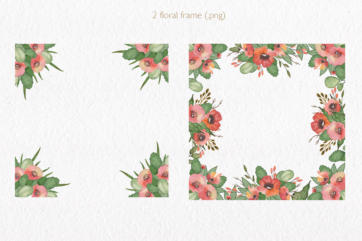 Spring florals. Watercolor floral collection. example image 4