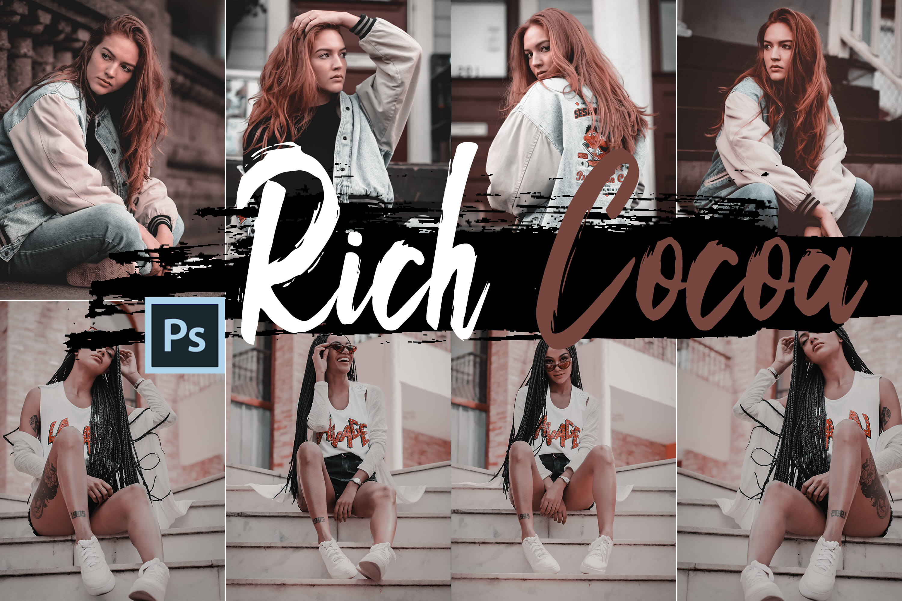 Neo Rich Cocoa Theme Color Grading photoshop actions example image 1