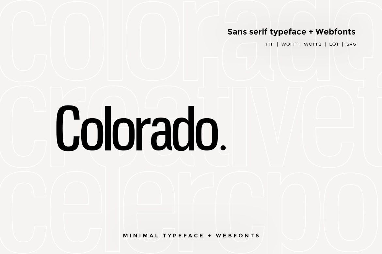 Colorado - Modern Typeface WebFont example image 1