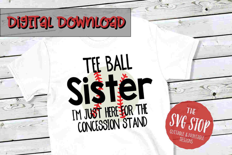 Teeball Sister -SVG, PNG, DXF example image 1