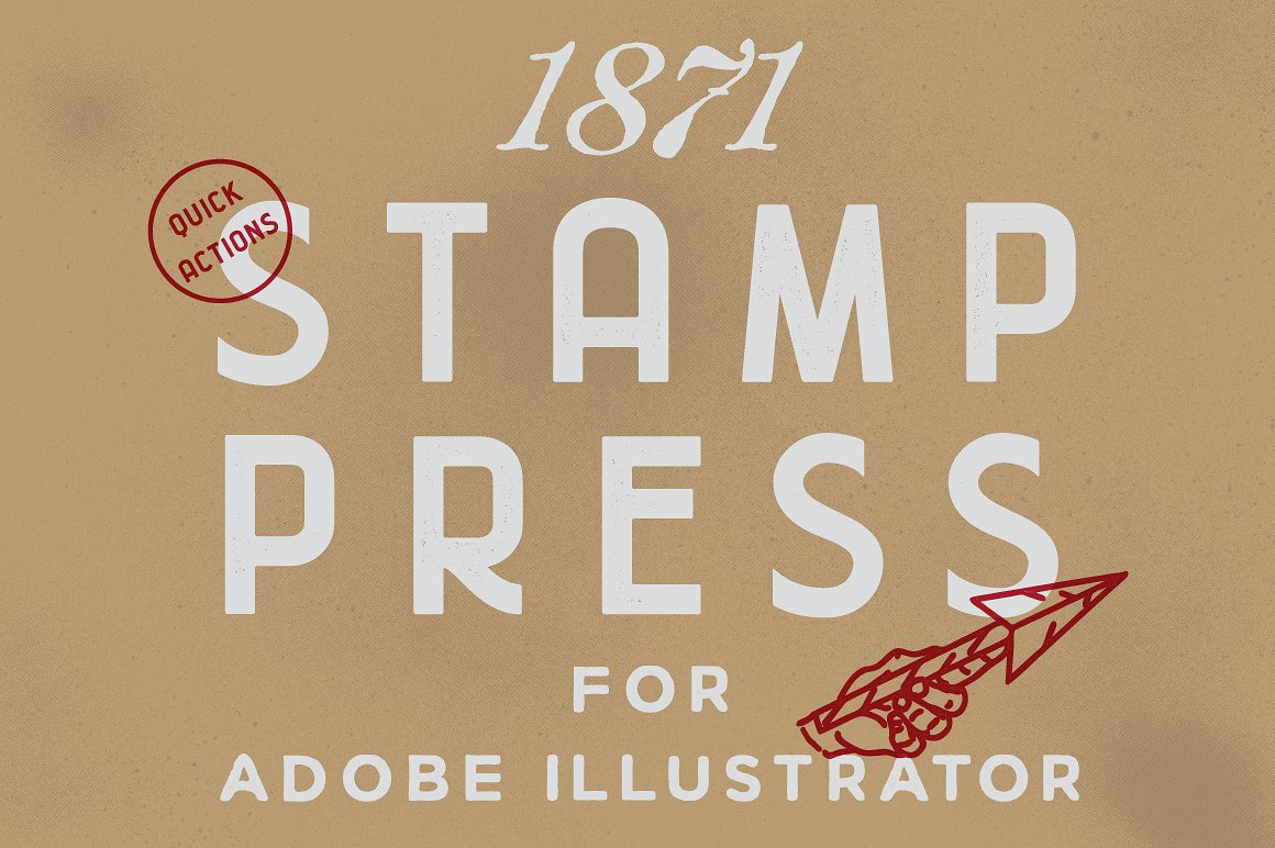 1871 Stamp Press example image 1