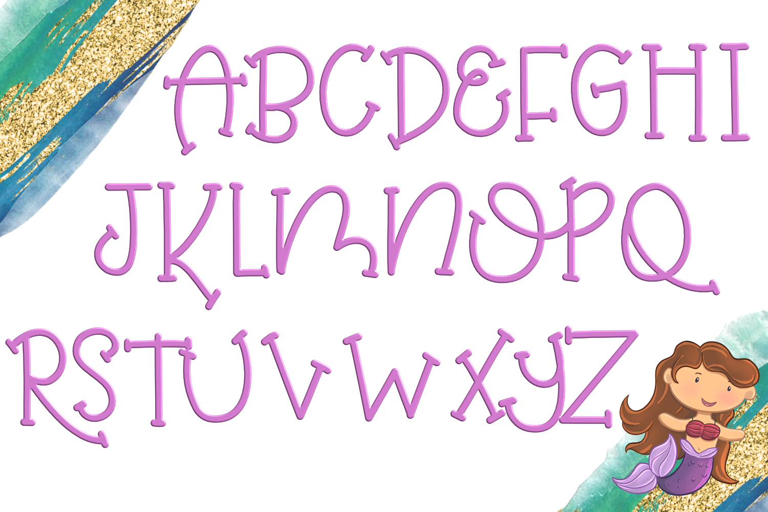 Mermaid Magic Font example image 2