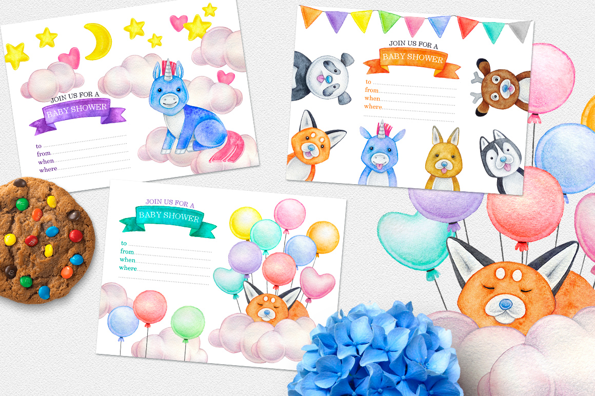 CUTE ANIMALS collection BABY SHOWER example image 8