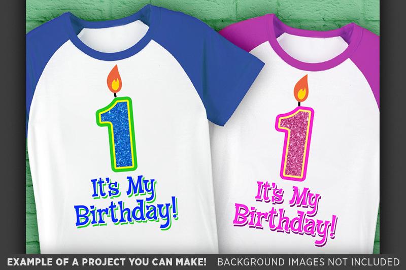 1st Birthday SVG - Its My Birthday SVG - Kids Shirt - 1028 example image 3