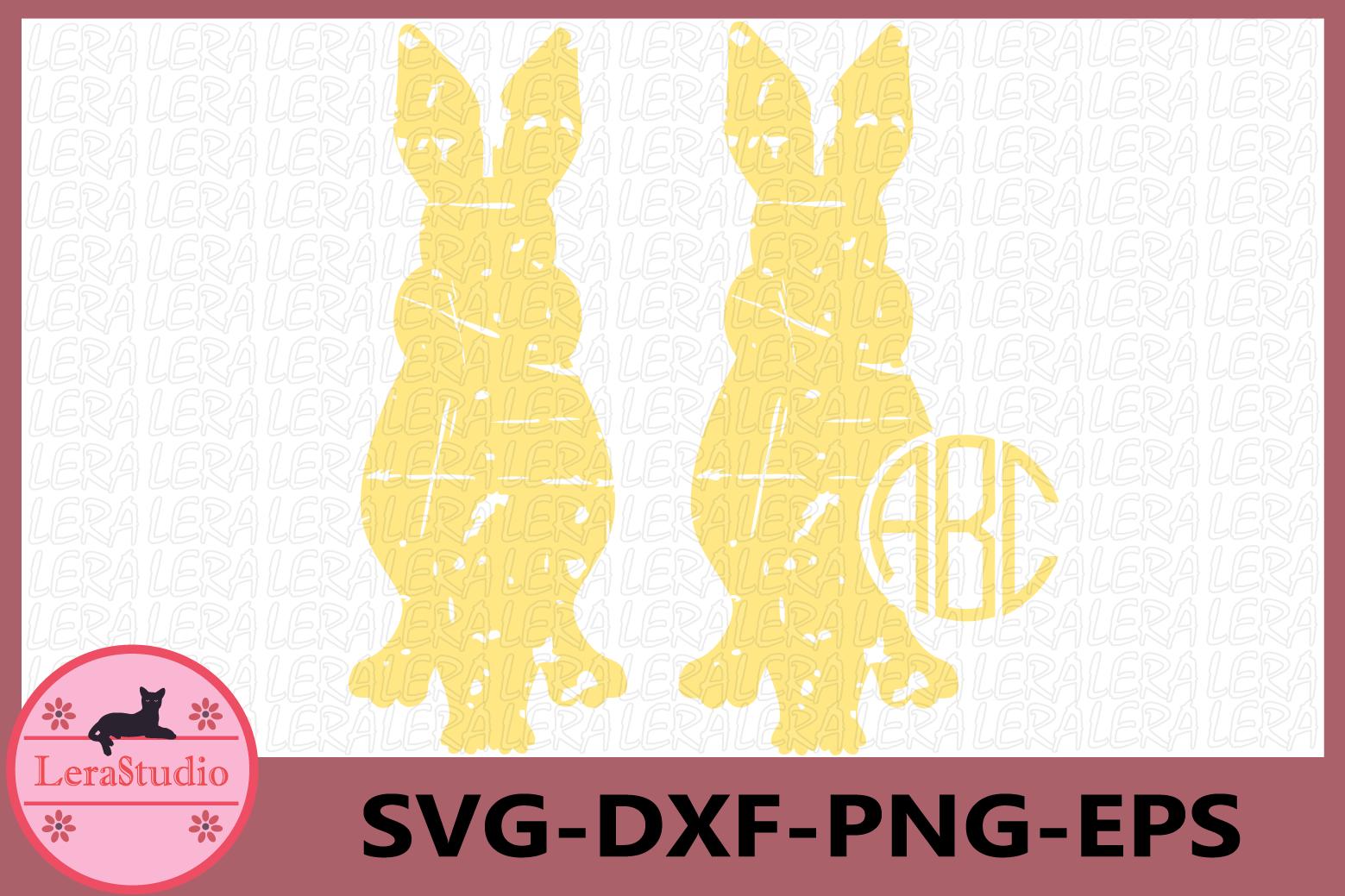 Rabbits Grunge svg, Bunnies SVG, Grunge SVG, Rabbits example image 1