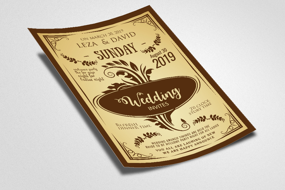 Wedding Invitation Poster Template example image 2