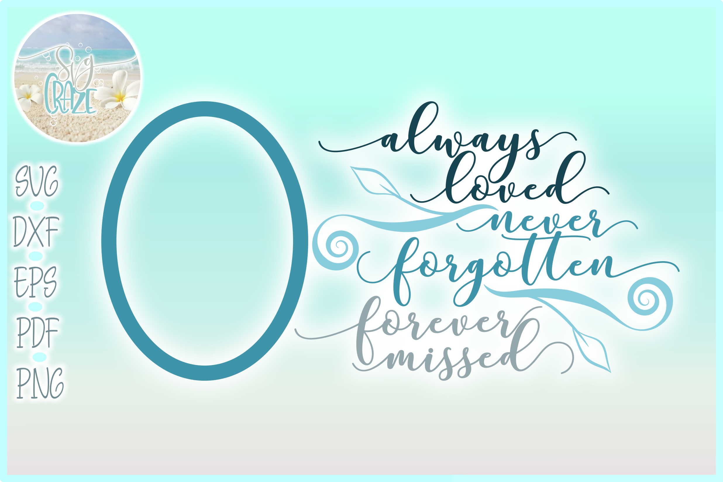 Always Loved Never Forgotten Forever Missed Memorial Quote example image 1