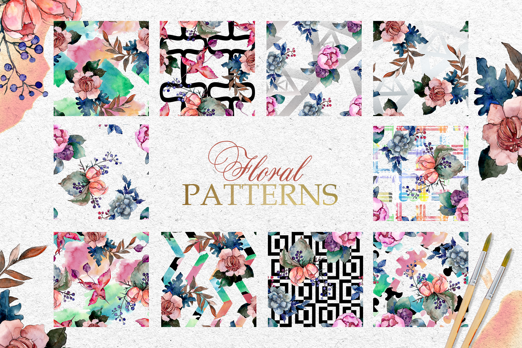 Bouquets Vintage flower Watercolor png example image 3