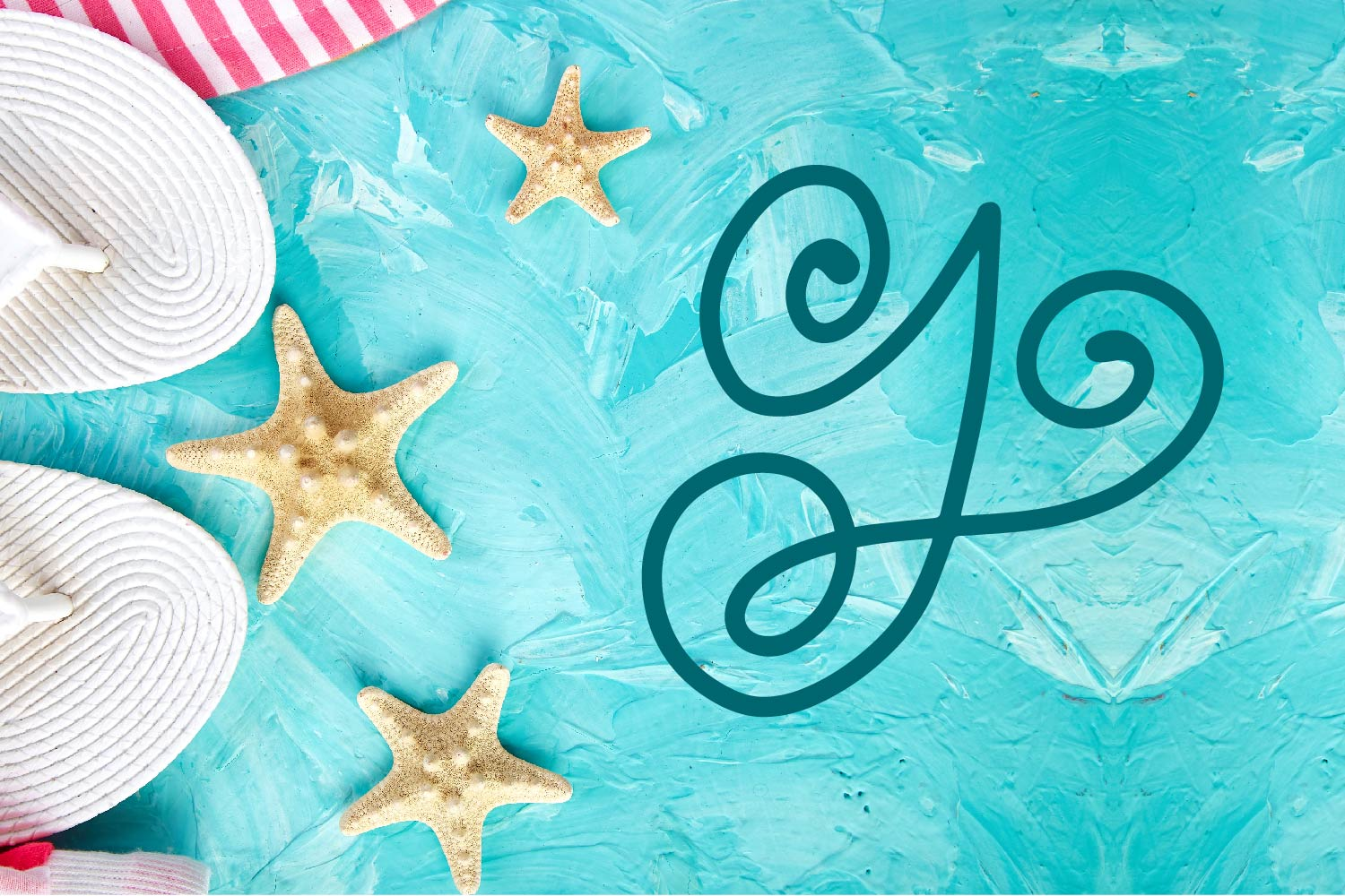 Swirly Monogram - With Swooshy Monoline Extras example image 4