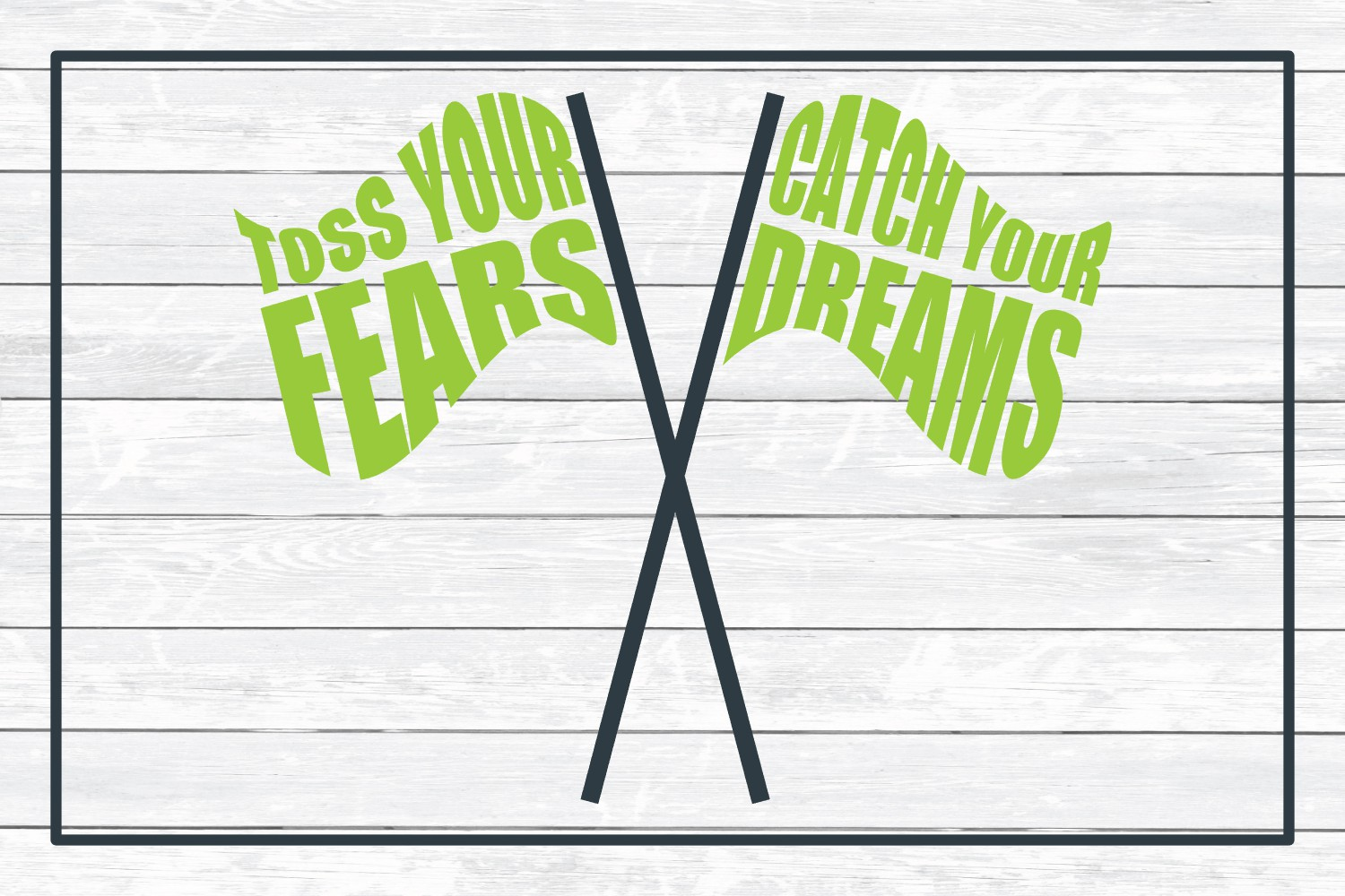 Toss Your Fears Catch Your Dreams, Color Guard SVG Cut File example image 3