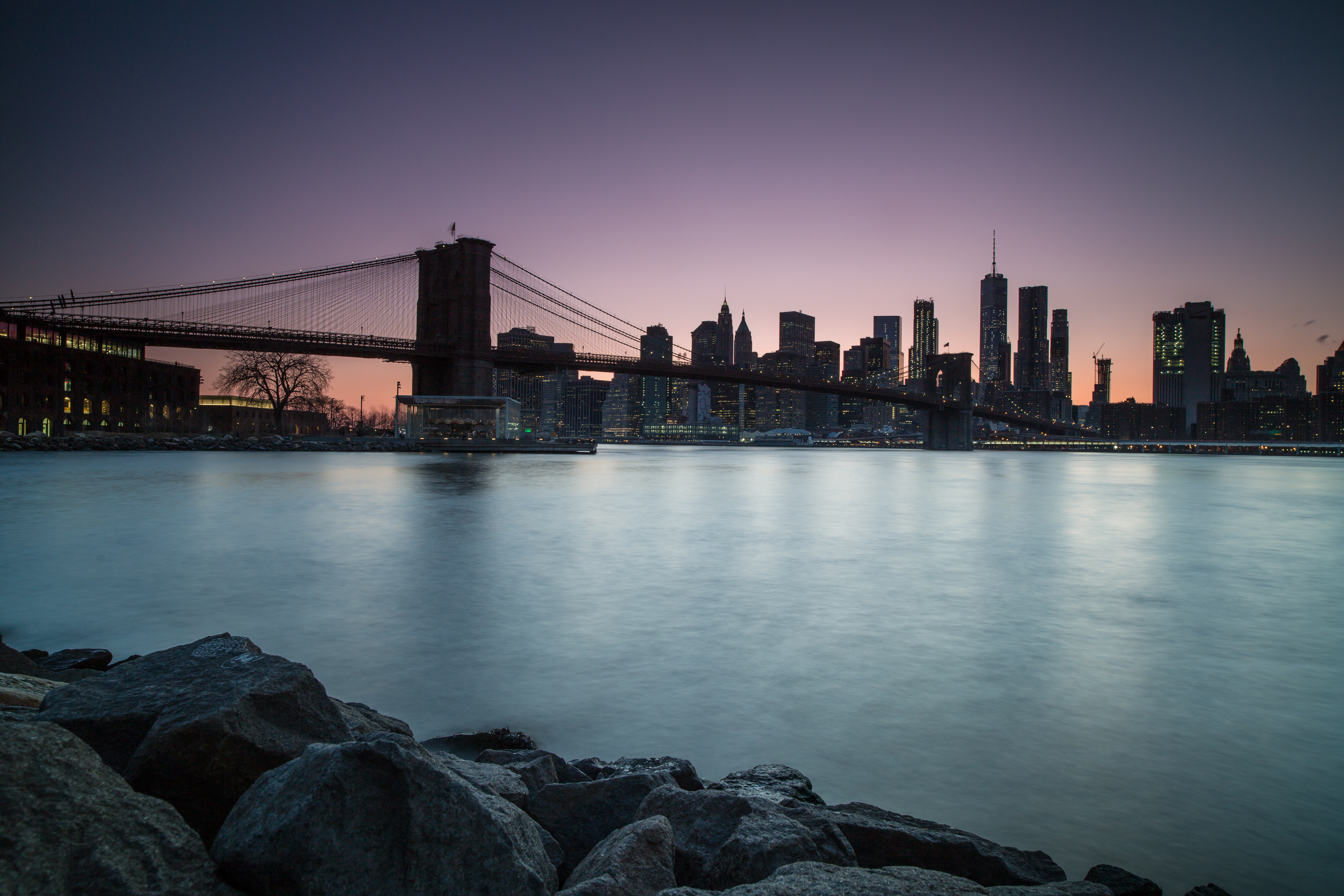 Manhattan view during twilight from dumbo location example image 1