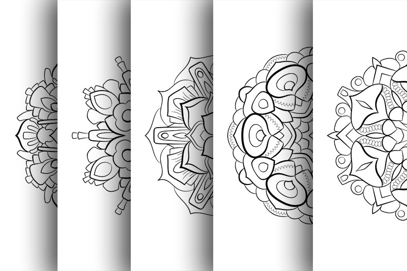 Coloring with 50 floral mandalas example image 2